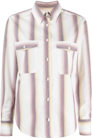 Isabel Marant Women Long sleeves - Vertical-stripe long-sleeve shirt