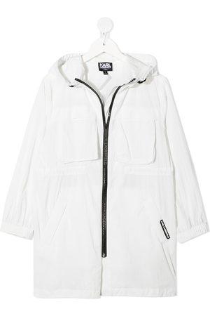 Karl Lagerfeld Girls Rainwear - Long-line windbreaker jacket