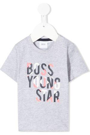 HUGO BOSS Logo-print short-sleeved T-shirt - Grey