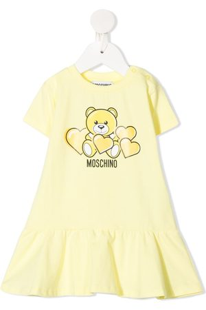 Moschino Baby Casual Dresses - Bear-print short-sleeved dress