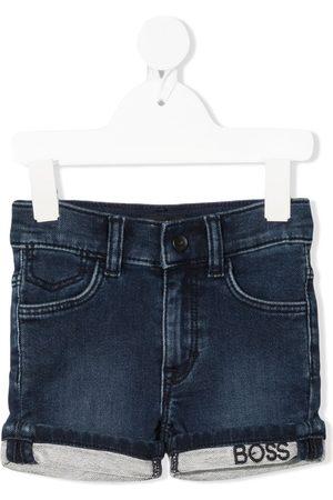 HUGO BOSS Shorts - Logo-print denim jeans