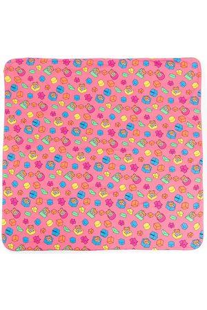 Moschino Toy Bear-print cotton blanket