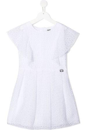 Karl Lagerfeld Ruffle-trimmed patterned dress