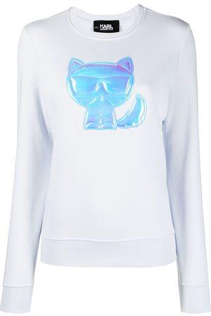 Karl Lagerfeld Ikonik Choupette-patch sweatshirt