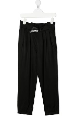 Karl Lagerfeld Girls Pants - Pleated high-waist trousers