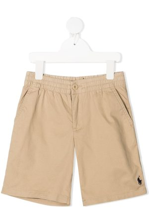 Ralph Lauren Girls Shorts - Polo Pony-embroidered mid-rise shorts - Neutrals