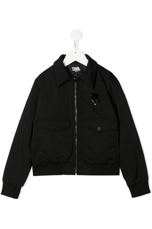 Karl Lagerfeld Boys Bomber Jackets - Quote print jacket