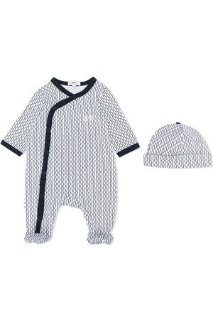 HUGO BOSS Monogram print babygrow set