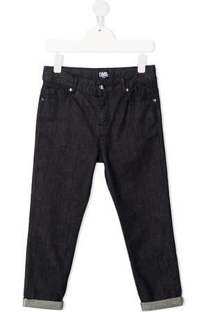 Karl Lagerfeld Girls Jeans - Rolled cuff dark-wash jeans