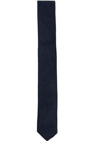 HUGO BOSS Woven logo silk-blend tie