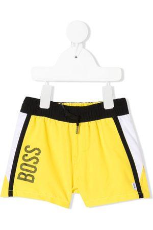 HUGO BOSS Baby Swim Shorts - Logo print swimming trunks