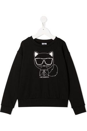 Karl Lagerfeld Girls Hoodies - Choupette print sweatshirt