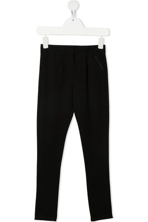Karl Lagerfeld Girls Leggings - Debossed logo pleated leggings