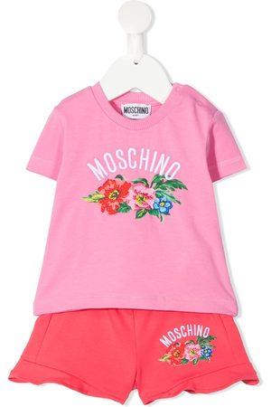 Moschino Floral-print logo tracksuit set