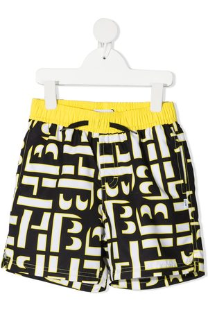 HUGO BOSS Boys Swim Shorts - Monogram print swimming trunks