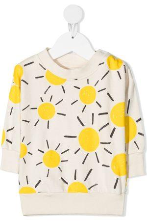 Bobo Choses Hoodies - Sun-print organic-cotton sweatshirt - Neutrals