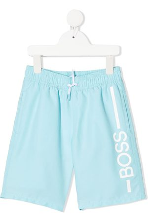 HUGO BOSS Boys Swim Shorts - Logo print swim trunks