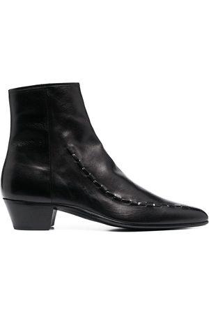 Saint Laurent Leather Casey 40 ankle boots