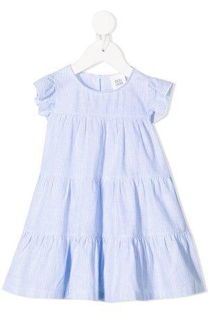 DOUUOD KIDS Stripe-print tiered dress