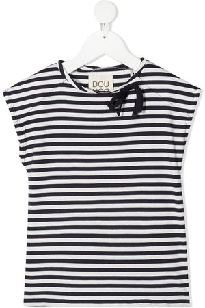 DOUUOD KIDS Striped short-sleeved T-shirt