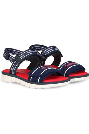 Dolce & Gabbana Logo-tape detail round-toe sandals