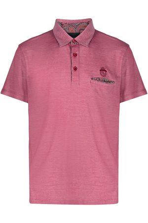 BILLIONAIRE Paisley pocket polo shirt