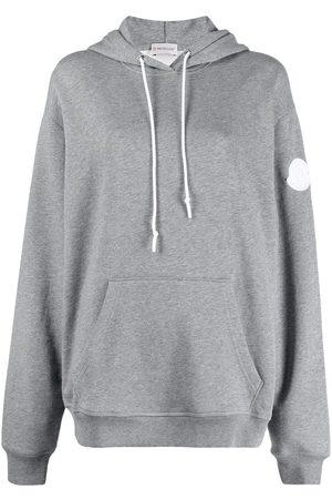 Moncler Logo-print hoodie - Grey