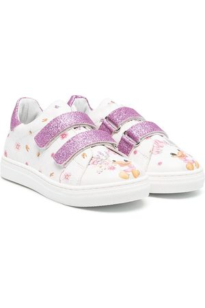 MONNALISA Graphic print touch-strap sneakers