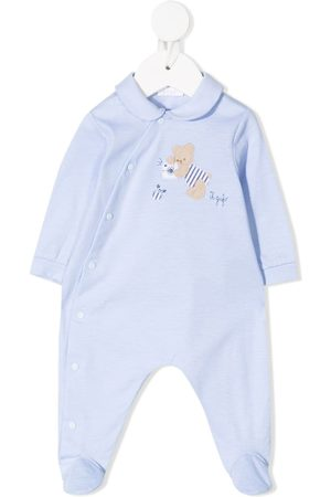Il gufo Teddy bear-patch cotton pajamas