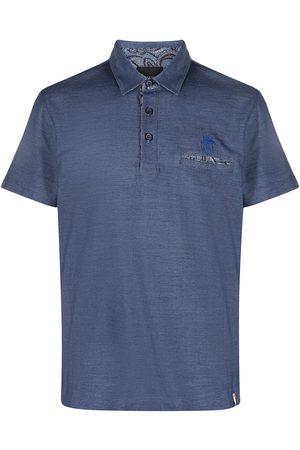 BILLIONAIRE Men Polo Shirts - Paisley pocket polo shirt