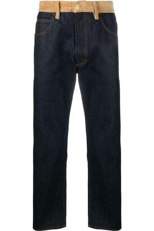 Marni Men Straight - Corduroy-panelled jeans