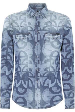 Dolce & Gabbana Men Denim - Logo-print denim shirt