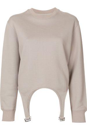 DION LEE Garter design sweatshirt - Grey