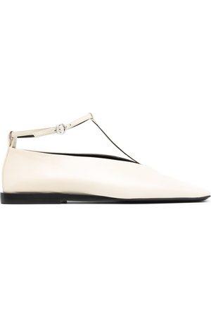Jil Sander Square-toe ballerina shoes - Neutrals