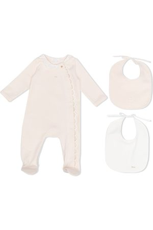 Chloé Scallop-edge cotton pajamas - Neutrals