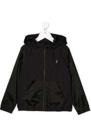 HERNO Boys Bomber Jackets - Logo print bomber jacket