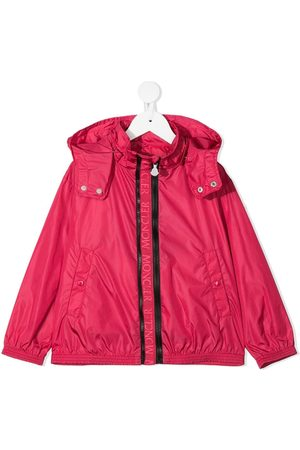 Moncler Girls Rainwear - Logo-trim jacket