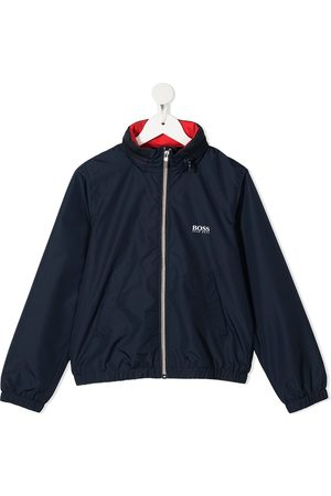 HUGO BOSS Logo-print zip-up rain jacket