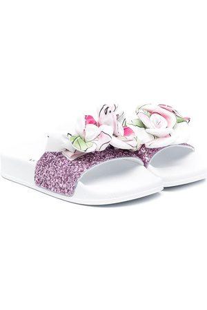 MONNALISA Floral-embellished slides