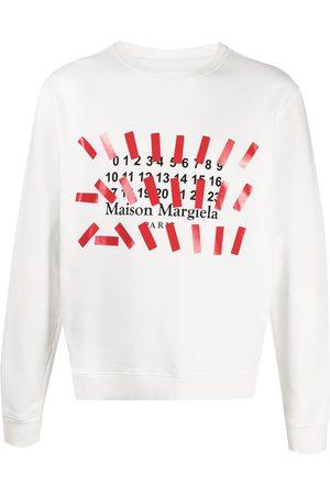 Maison Margiela Men Sweatshirts - Number-print logo sweatshirt