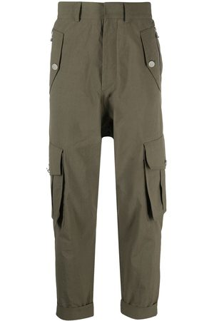 Balmain Men Cargo Pants - Cropped cargo trousers