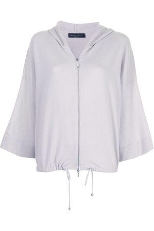 Fabiana Filippi Zip-through hooded sweater - Grey