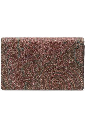 Etro Men Wallets - Paisley print cardholer