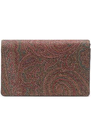 Etro Men Wallets - Paisley-print leather cardholer