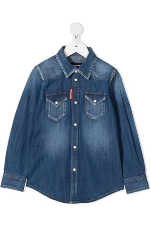 Dsquared2 Logo tag denim shirt