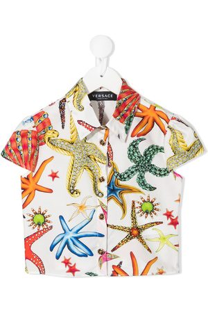 VERSACE Boys Shirts - Starfish-print shirt