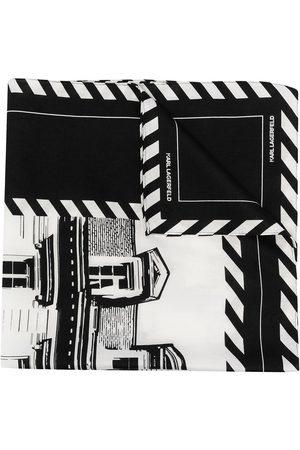 Karl Lagerfeld K/Maison print scarf