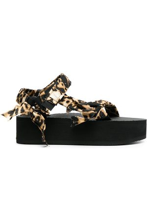 Arizona Love Trekky leopard-print wedge sandals