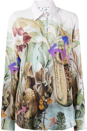 OFF-WHITE New botanical silk shirt