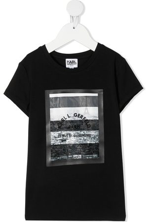 Karl Lagerfeld Girls Short Sleeve - Photographic print short-sleeve T-shirt